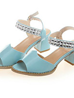 Women's Shoes Chunky Heel Open Toe Sandals Dress Black/Blue/Pink/White