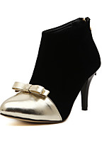 Women's Shoes Fleece Stiletto Heel Fashion Boots/Bootie/Closed Toe Boots Casual Black
