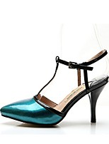 Women's Shoes Stiletto Heel Pointed Toe Sandals Casual Blue