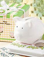 This Little Piggy White Ceramic  Bank