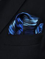 Men's Business Ripple Blue Silk Pocket Square