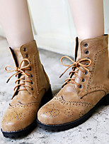 Women's Shoes  Kitten Heel Combat Boots/Round Toe Boots Office & Career/Dress Yellow/Red/Gray