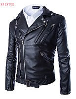 2015 Men's Fashion Leather Coat Of Cultivate One's Morality
