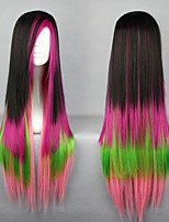3Tone Ombre Wig Silk Straight Wig Heat Resistant Synthetic Wig for Party/Festival