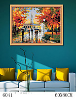 DIY Digital Oil Painting  Large Size Without Frame  Family Fun Painting All By Myself     Happy Peers 6041