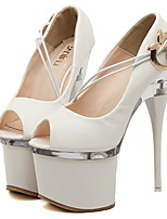 Women's Shoes  Stiletto Heel Heels/Peep Toe/Platform Pumps/Heels Casual Black/White