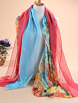 HOT sale Women's fashion new graffiti flowers  printed 30D chiffon scarves, scarves shawls