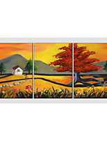 Oil Painting Set of 3 Modern Tree ,Canvas Material with Stretched Frame Ready To Hang SIZE:50*70CM*3PCS .