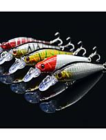 80mm 8g Bronzing  Minnow Bass Hard Bait Fishing Lure Set(5pcs/set)