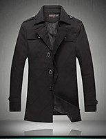 Men's Paragraph dust Coat grows  men's wear Red windbreaker khaki men coat have big yards