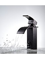 Oil Rubbed Bronze Waterfall Bathroom Sink Vessel Faucet Lavatory Vanity Basin Mixer Tap