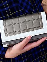 Tri-fold (tre scomparti) - Portafoglio - Donna - PU - Dorato / Argento / Nero