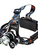 Fari cinghie - LED - Campeggio/Escursionismo/Speleologia - Ultraleggero 4.0 Modo 1800 lumens Lumens Cree XM-L T6 Batteria Altro T6