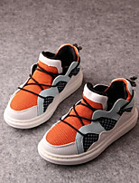 Baby Shoes Casual Tulle Fashion Sneakers Black/Orange