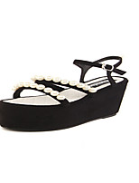 Women's Shoes  Wedge Heel Creepers Sandals Dress/Casual Black/Burgundy
