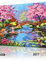 DIY Digital Oil Painting With Solid Wooden Frame Family Fun Painting All By Myself     Jiangnan Spring 5011