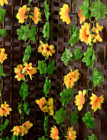 Set of 2 Artificial Flowers Simulation Sunflower Vine Home / Wedding Decor (230cm)