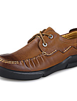 Men's Shoes Office & Career/Casual Leather Oxfords Brown/Green