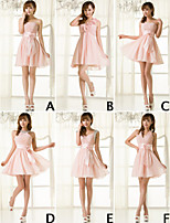 Bridesmaid Dress Short/Mini Chiffon A-line Strapless Dress