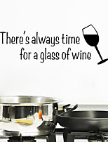 Wall Stickers Wall Decals Style A Glass of Wine English Words & Quotes PVC Wall Stickers