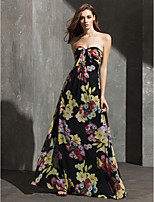 TS Couture® Formal Evening Dress Sheath / Column Sweetheart Floor-length Chiffon with Pattern / Print