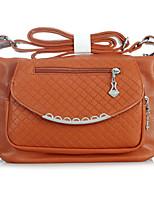 Women 's PU Sling Bag Shoulder Bag - Yellow/Brown/Black