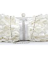 Handbag Silk Evening Handbags/Clutches/Wallets & Accessories With Crystal/ Rhinestone/Lace