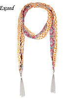 D Exceed   Bohemian Fashion Charm Scarves Chiffon wuth Tassles Long Long Jewelry Sczrves