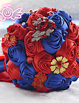 Ramos ( Multicolor , Satén/Abalorio/Espuma/Poliéster ) - Rosas