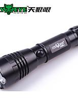 hemel oog 3-modus 350 zaklampen usb / batterij mobiele stroomvoorziening / gemakkelijk camping / fietsen / vissen zwart dragen