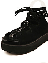 Women's Shoes Cashmere Flat Heel Comfort Sandals Outdoor Black