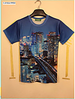 Summer Fashion 3D Print Men's Cool Short Sleeve T-shirt Tops Shirts (M-XXL)