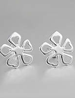 Italy S925 Silver Plated Stud Earrings for Lady