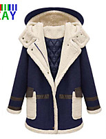 ZAY Women's Winter Fashion Hooded Thick Long Sleeve Long Parka