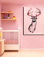 ciervos star®pink visual lienzo animal arte de impresión de un panel de la lona de alta calidad listo para colgar