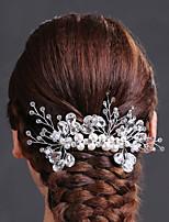 Dame Rhinestone/Krystall/Messing/Imitert Perle Headpiece Bryllup/Spesiell Leilighet Hårkammer/Blomster Bryllup/Spesiell Leilighet 1 Deler