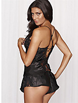 Women's Supper Sweet Lace/Polyester Lingerie/Robes/Satin Pajamas & Suits Nightwear
