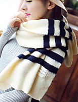 Women Winter Long Streak Shawl Wool Blend Scarf