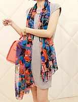 Women Cute Flower Chiffon Scarf