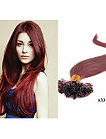 1pc/lot Brazilian Natural Keratin Capsule Prebonded U/Nail Tip Hair Extension 1g/strand,100g/pc Straight Hair