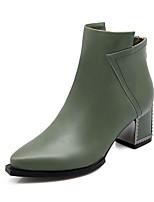 Scarpe Donna Finta pelle Quadrato Stivaletto/A punta Stivali Formale Nero/Verde/Arancione