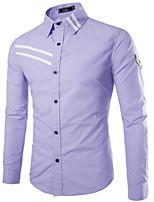 Men's Fashion Armbands Decoration Slim Long Sleeved Shirt
