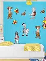 stickers muraux Stickers Muraux bande dessinée de style animation décoration de la chambre pvc stickers muraux pour enfants