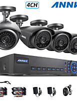 ANNKE® 4CH AHD-L 960H DVR eCloud HDMI 1080P/VGA/BNC Output  4pcs 900TVL CMOS 42LEDS Day/Night IR-cut Cameras IP66