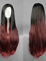 2015 Full Head Ombre Wig Hair Fall Long Wavy Cosplay Synthetic Wigs for Women
