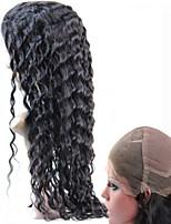 Forawme #1B Full Lace Wigs Woman Human Virgin Remy Hair  130% Brazilian Deep Wave Curl hair Glueless Wigs 10