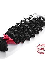 evet reine Haarbündel befasst lose Welle reine Haarverlängerung der natürlichen Farbe webt peruanisches Menschenhaar 1pc