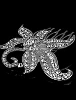 Bergkristal Vrouwen/Bloemenmeisje Helm Bruiloft/Speciale gelegenheden Tiara's Bruiloft/Speciale gelegenheden 1 Stuk