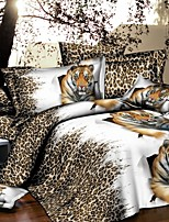 Lai Of Cosette's Creative 3 d Fashion Bedding Four Tiger Leopard
