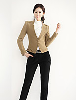 Women's Vintage/Casual/Work Thick Long Sleeve Short Blazer (Tweed/Wool Blends)